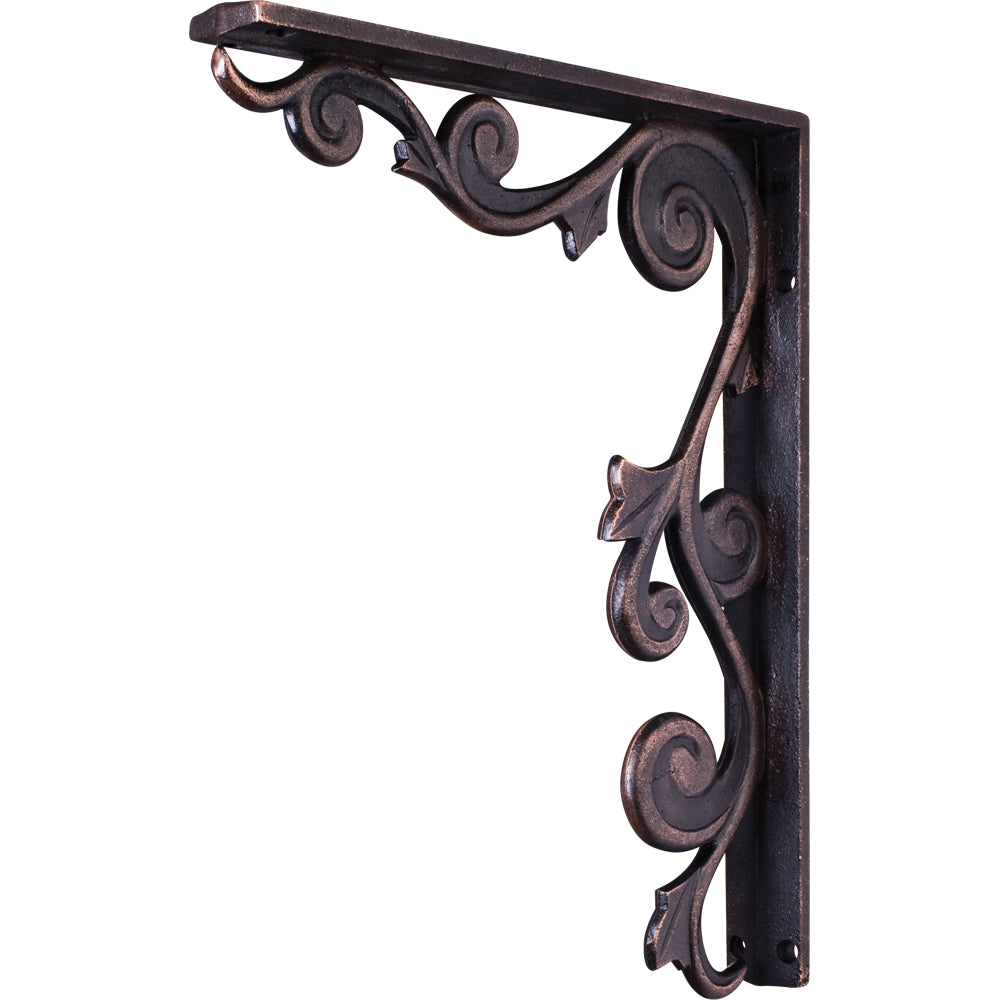 Metal (Iron) Floral Bar Bracket-Brushed Oil Rubbed Bronze (Steel)