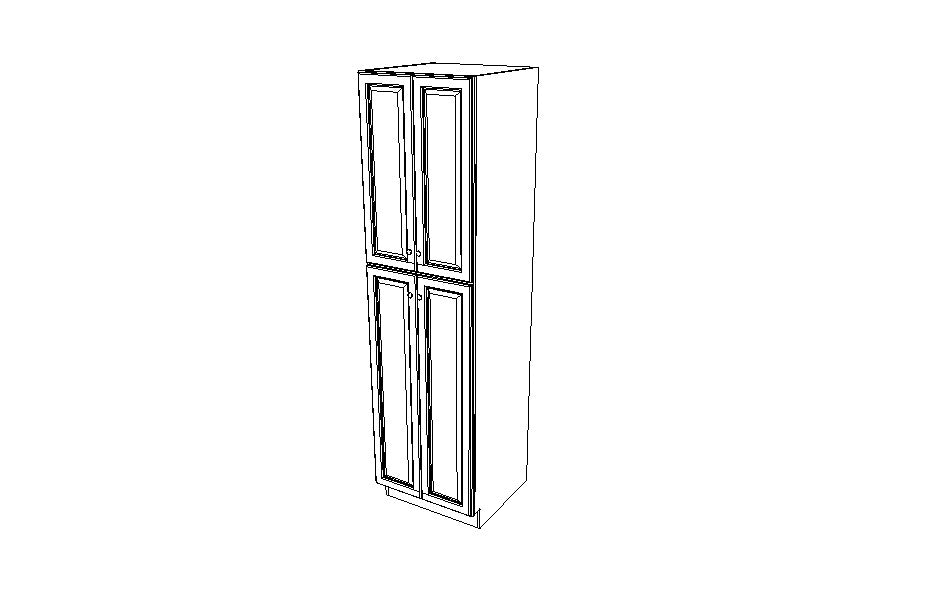 WP2496B Tall Pantry Double  Door Cabinets K-Espresso (KE)