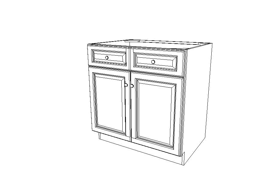 SB30B  Sink Base Cabinet Signature Brownstone (SB)