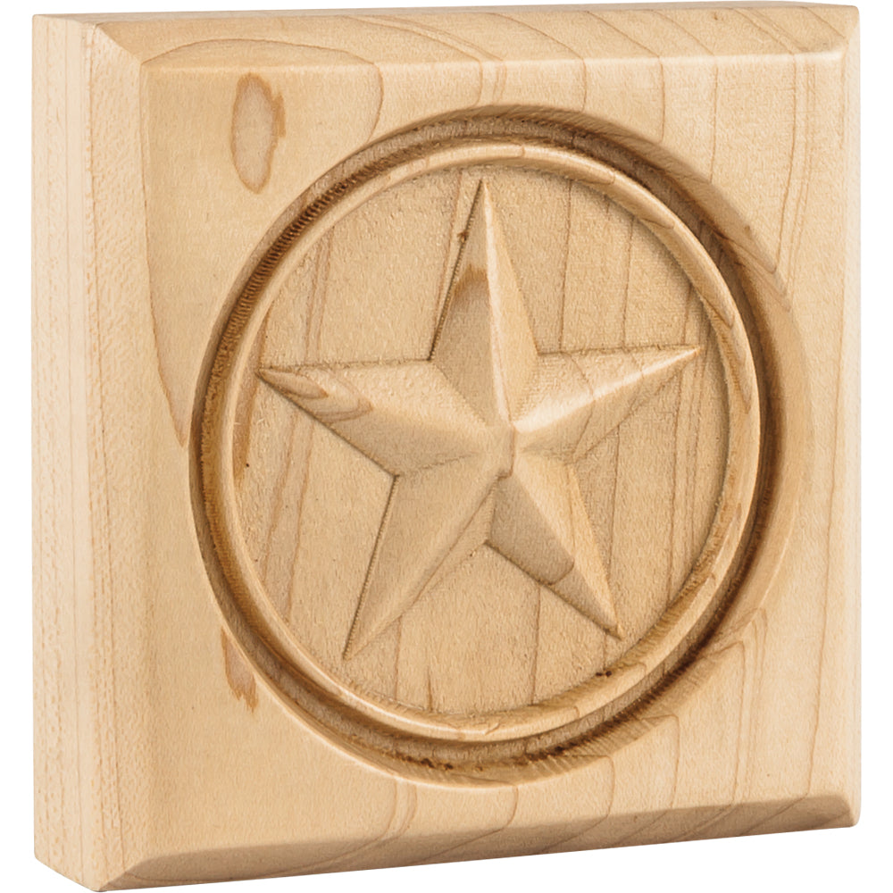 Star Rosette-Unfinished (Hard Maple)