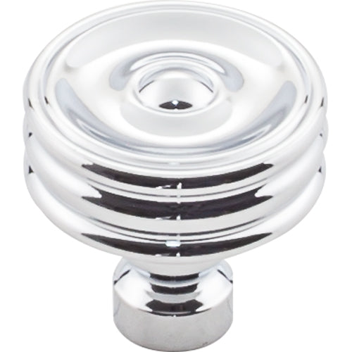 Brixton Ridged Knob 1 1/4 Inch  Polished Chrome
