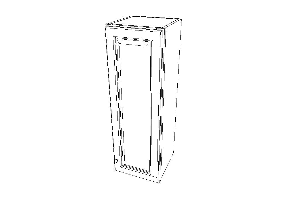 W1242 Wall Single Door Cabinets 42'' Height Ice White Shaker (AW)