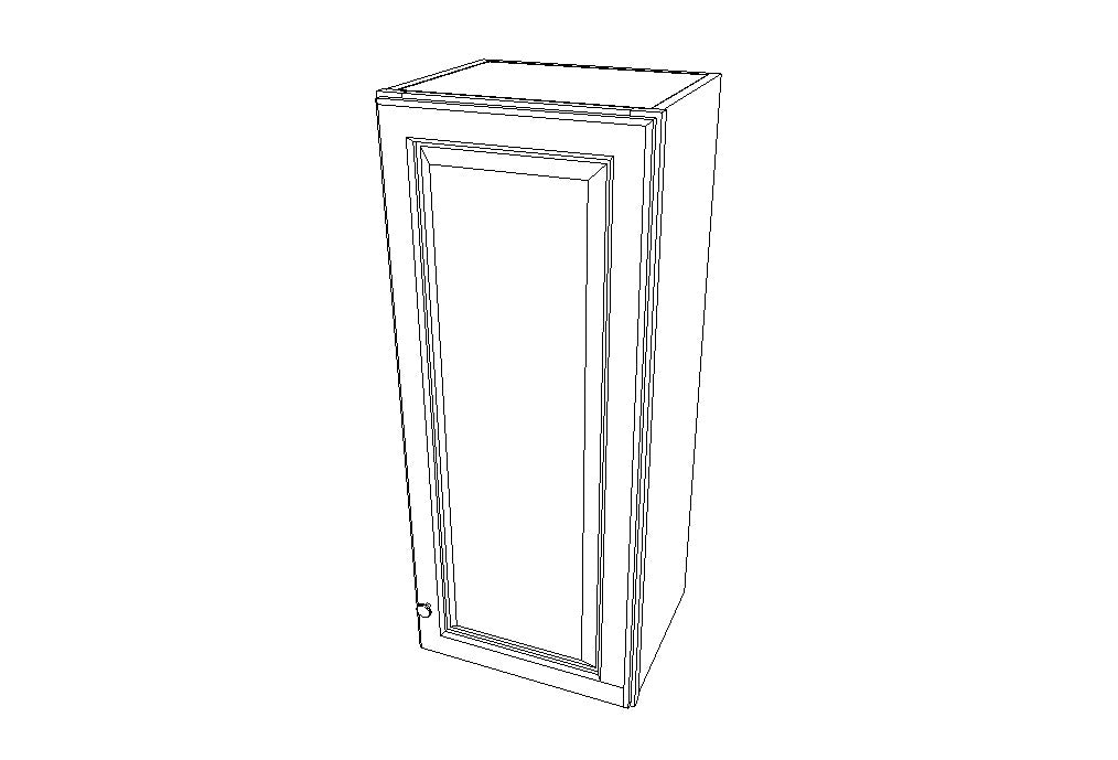 W1542 Wall Single Door Cabinets 42'' Height Signature Pearl (SL)