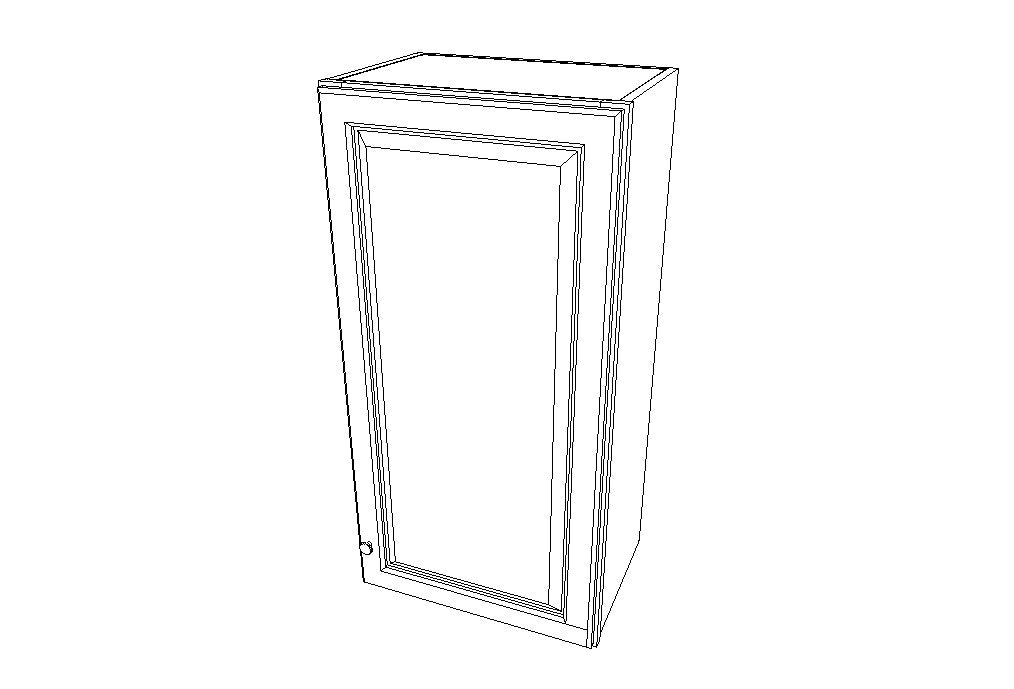W1836 Wall Single Door Cabinets 36'' Height Signature Pearl (SL)