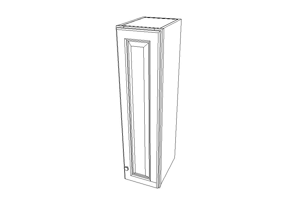 W0942 Wall Single Door Cabinets 42'' Height Ice White Shaker (AW)