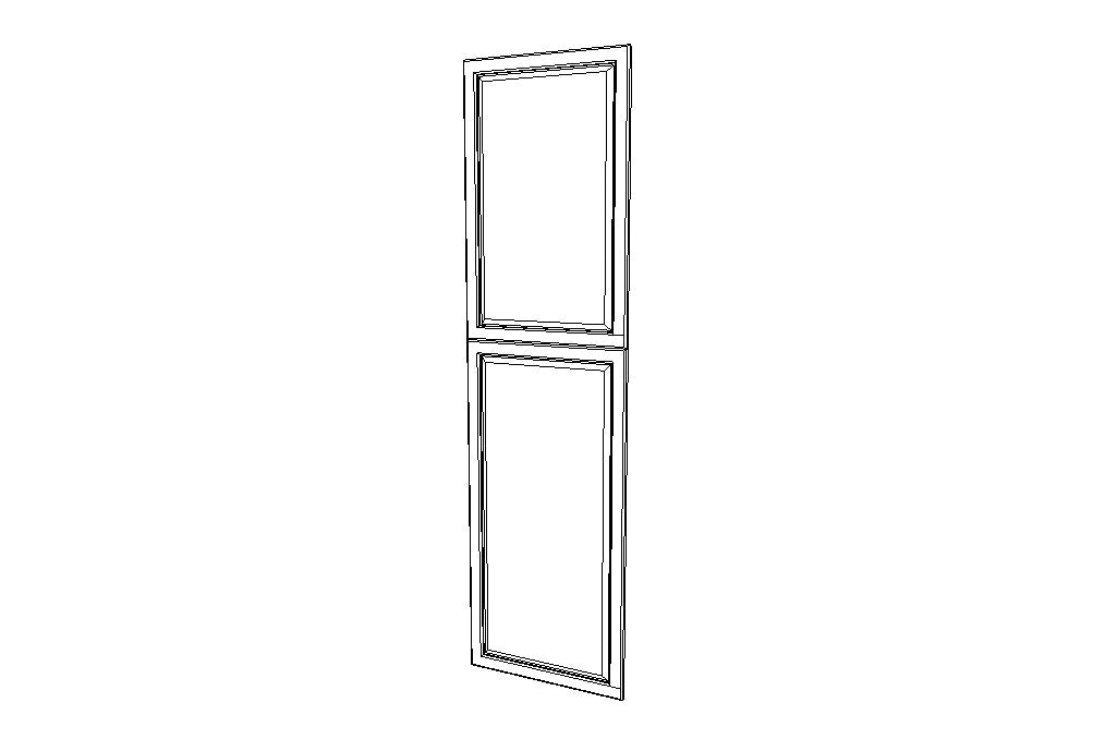 EPWP2484D End Decorative Doors Uptown White (TW)