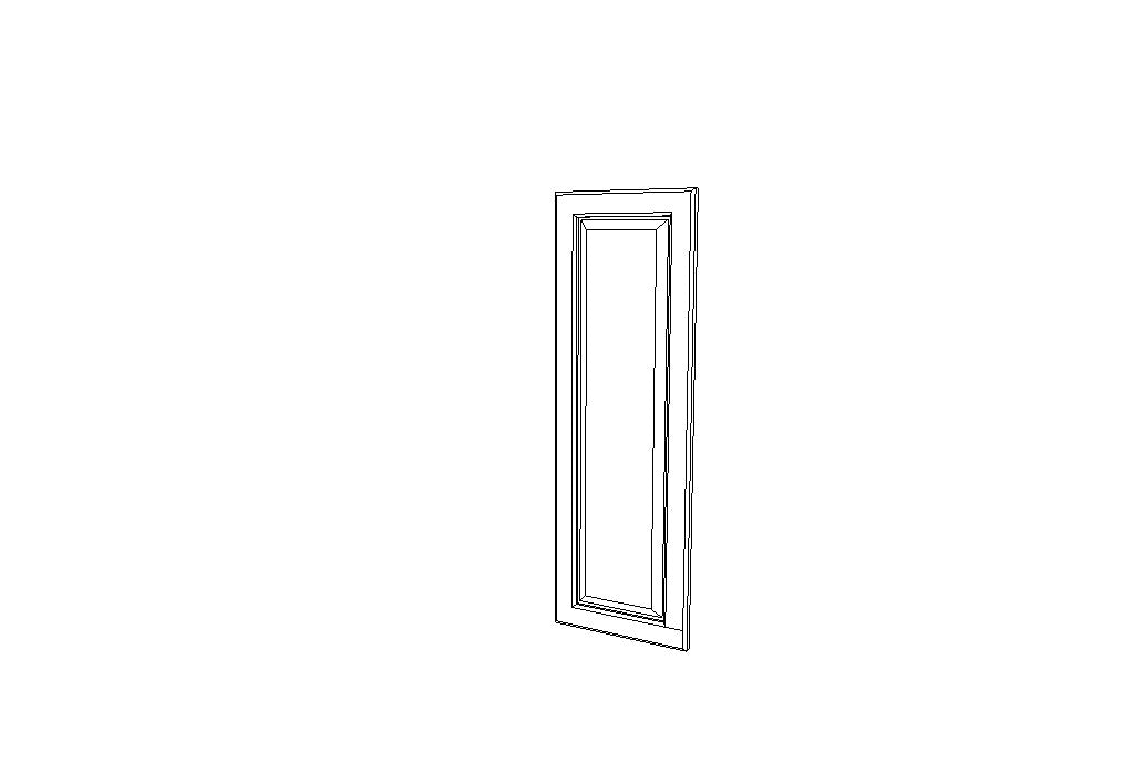 EPW1230D  End Decorative Doors Uptown White (TW)