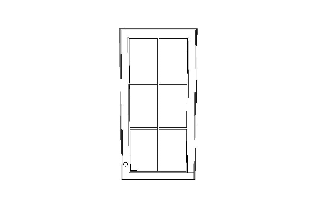 W1842GD Mullion Glass doors Gramercy White (GW)