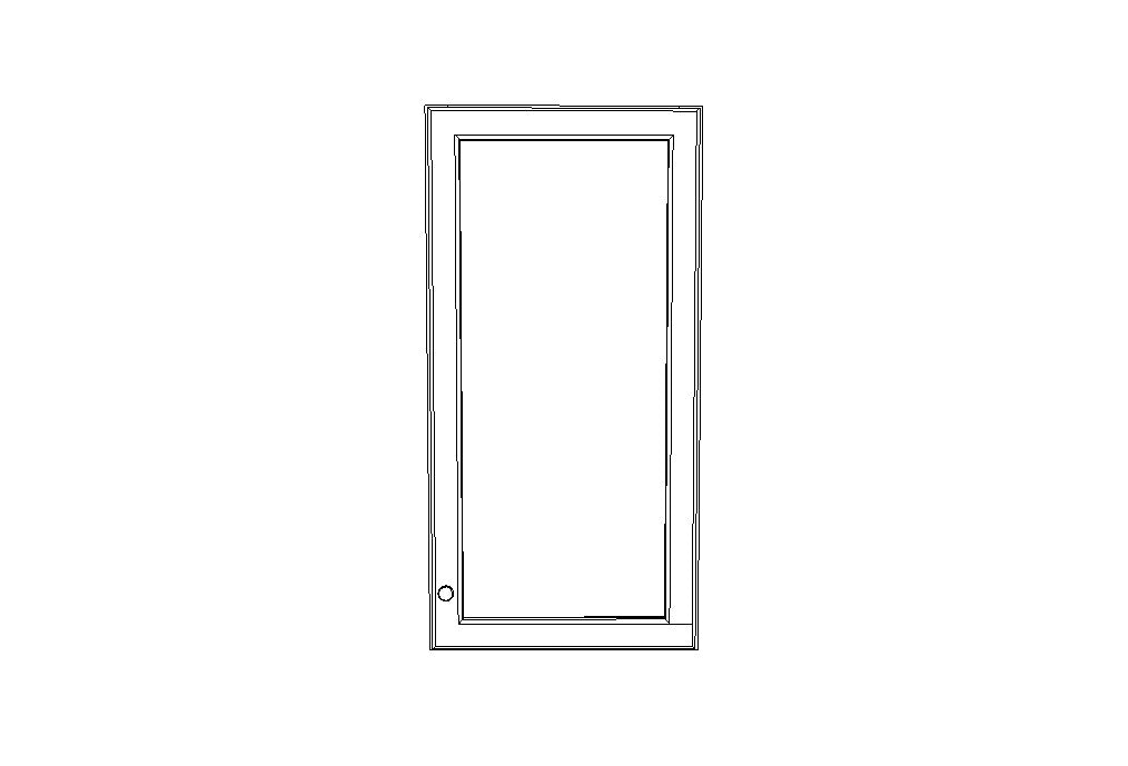 W1836GD no Mullion Glass doors Uptown White (TW)