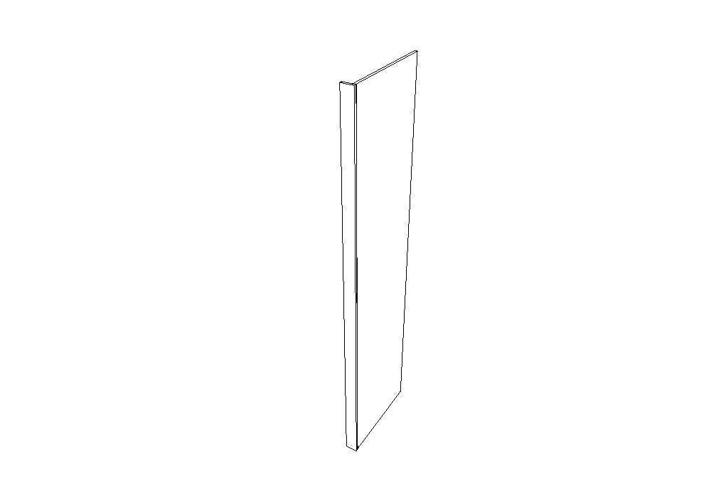 Refrigerator End Panels REP2484(3)-3/4 Gray Shaker (AG)