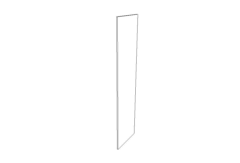 "Refrigerator End Panels REP2496-3/4"" Gray Shaker (AG)"