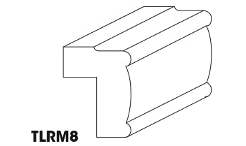 TLRM8 Light Rail Molding Gramercy White (GW)