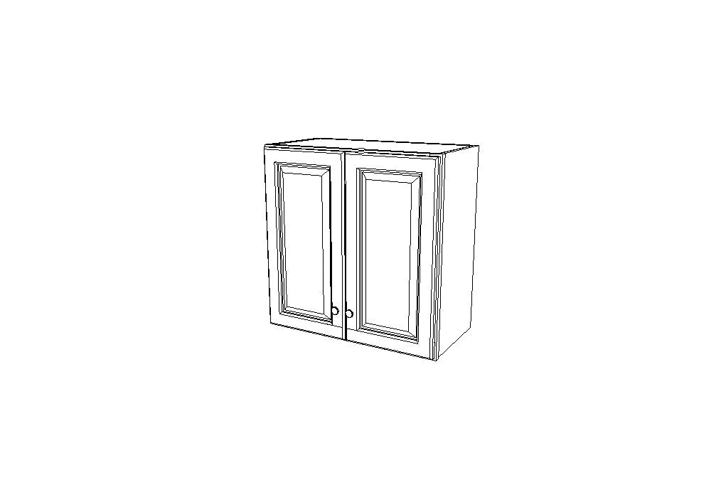 W2424B Wall Double Door Cabinets 24'',  High Ice White Shaker (AW)