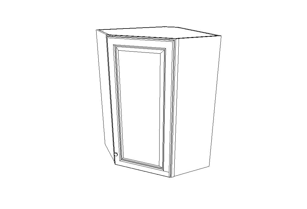 Wall Diagonal Corner 36'' High Gray Shaker (AG)