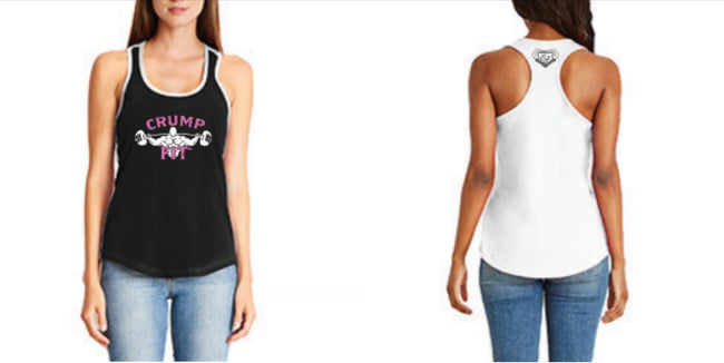 CRUMP FIT Racer Back Tank - Black/White/Pink