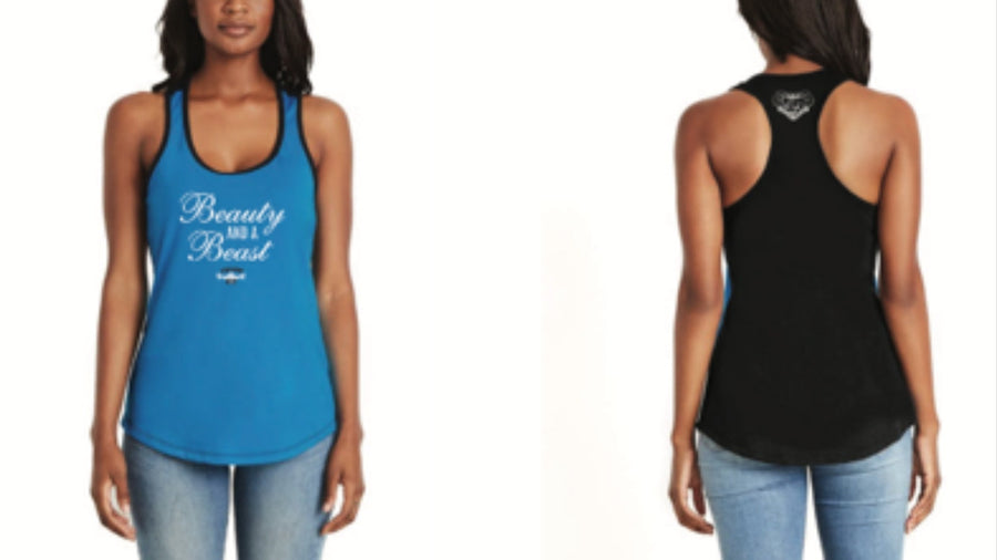 CRUMP FIT Beauty & A Beast Tank - Blue/Black