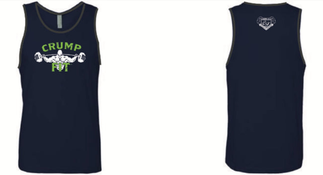 CRUMP FIT Tank - Navy Blue/Neon