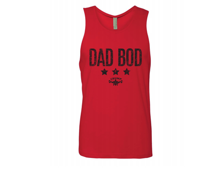 CRUMP FIT DAD BOD Tank - Red