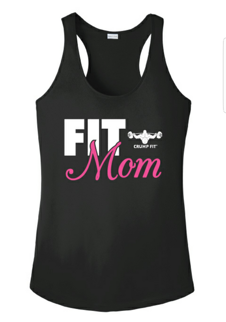 CF FIT MOM Racer back tank - Black/White/Pink
