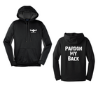 CF PARDON MY BACK Hooded Pullover - Black/Grey/White