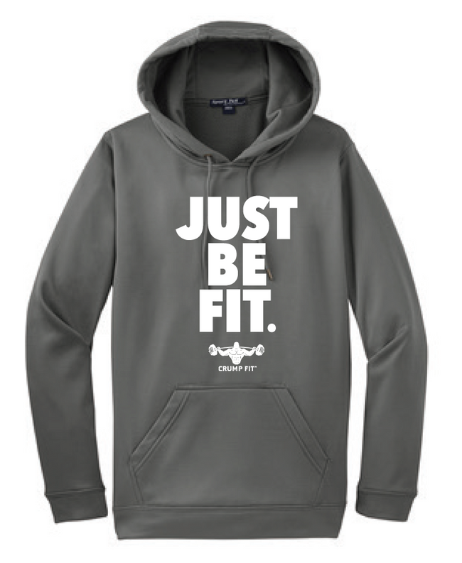 CF JUST BE FIT. Hooded Pullover - Grey/White