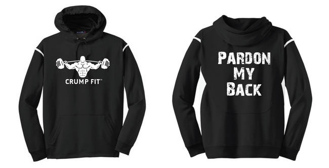 CF PARDON MY BACK Hooded Pullover - Black/White