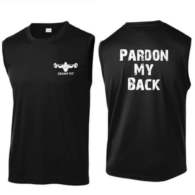CF PARDON MY BACK Sleeveless Tee - Black/White