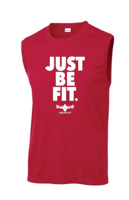 CF JUST BE FIT. Sleeveless Tee - Red/White