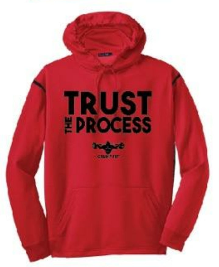 CF TRUST THE PROCESS Hooded Pullover - Red/Black