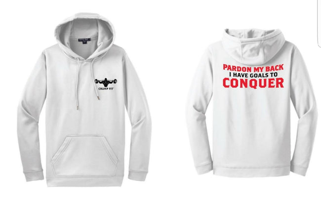 CF Pardon My Back Hooded Pullover - White/Black