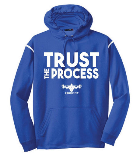 CF TRUST THE PROCESS Hooded Pullover - Royal Blue/White
