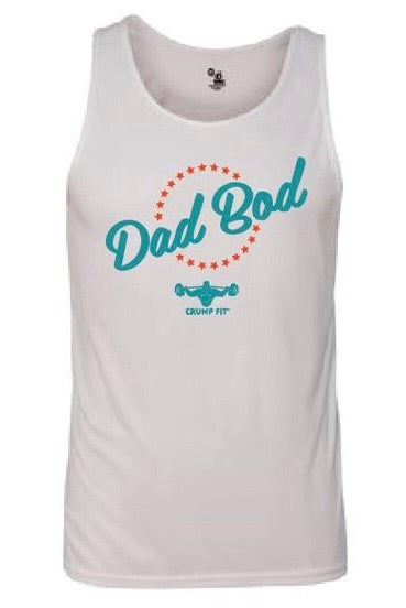 CRUMP FIT DAD BOD Performance Tank - White
