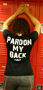 CF PARDON MY BACK Performance Scoop Neck Tee - Black/White