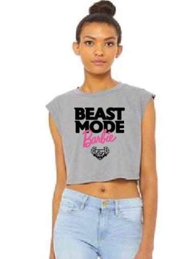 CRUMP FIT Sleeveless Beast Mode Barbie - Storm Gray