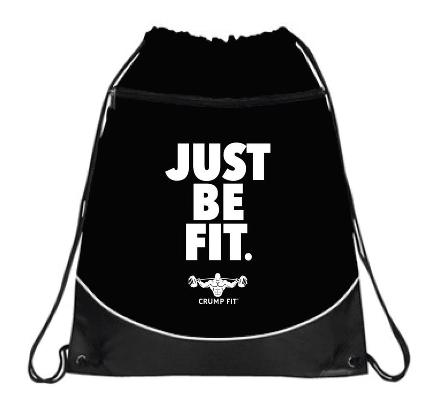 "CF ""JUST BE FIT."" Drawstring Sport-pack - Black/White"