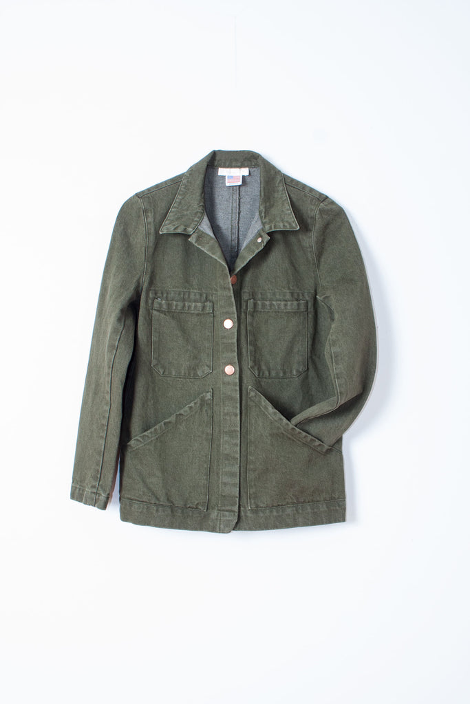 Carleen Triangle Pocket Jacket - Sage denim