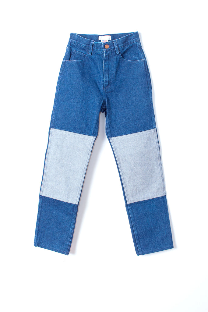 Carleen high waist Two-Tone Jeans - Blue