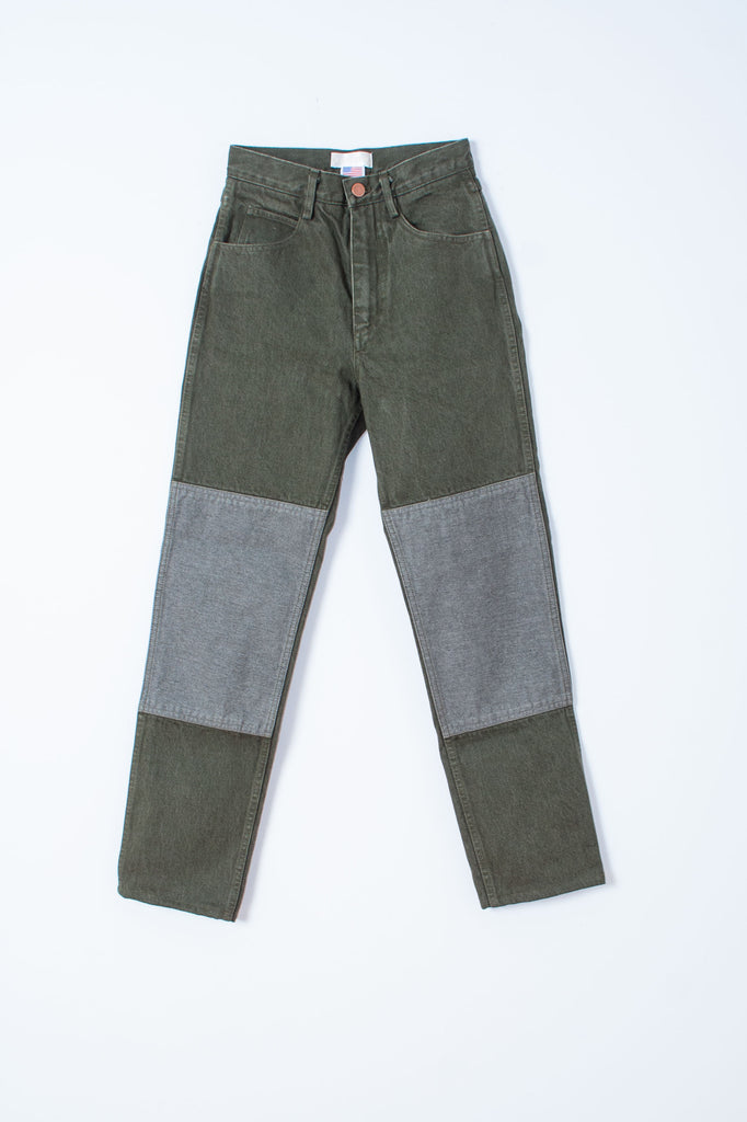 Carleen high waist Two-Tone Jeans - Sage