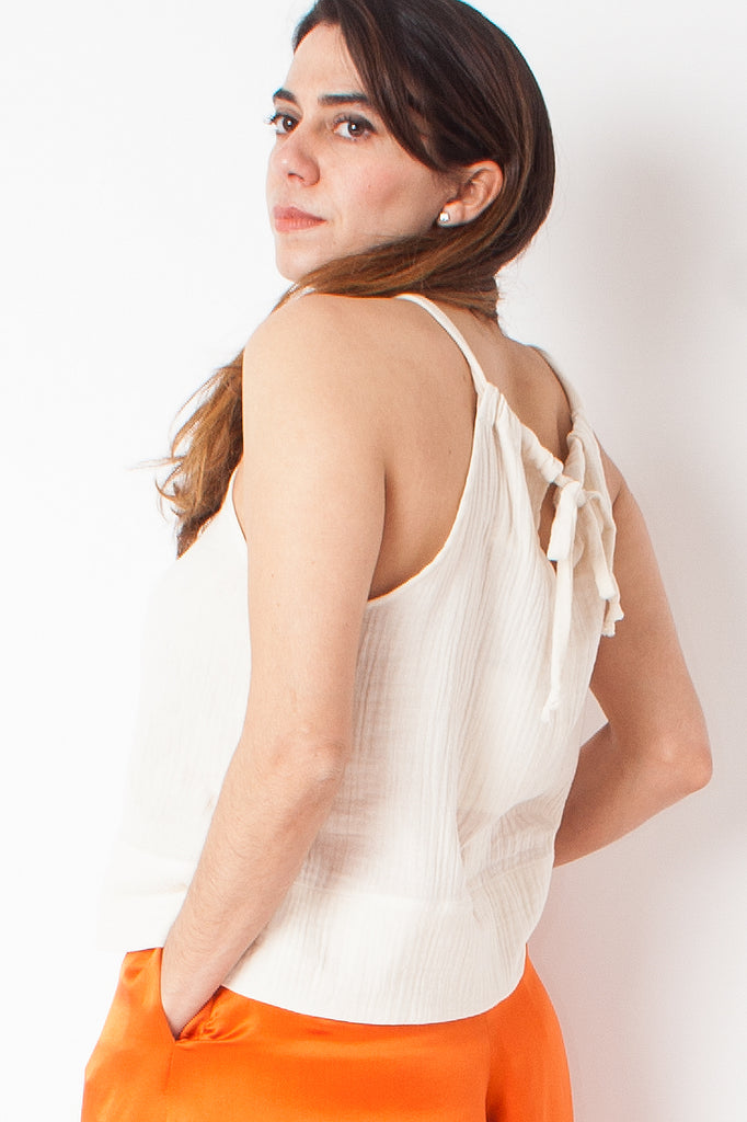 Hackwith Design House - Drawstring Tank - Ivory