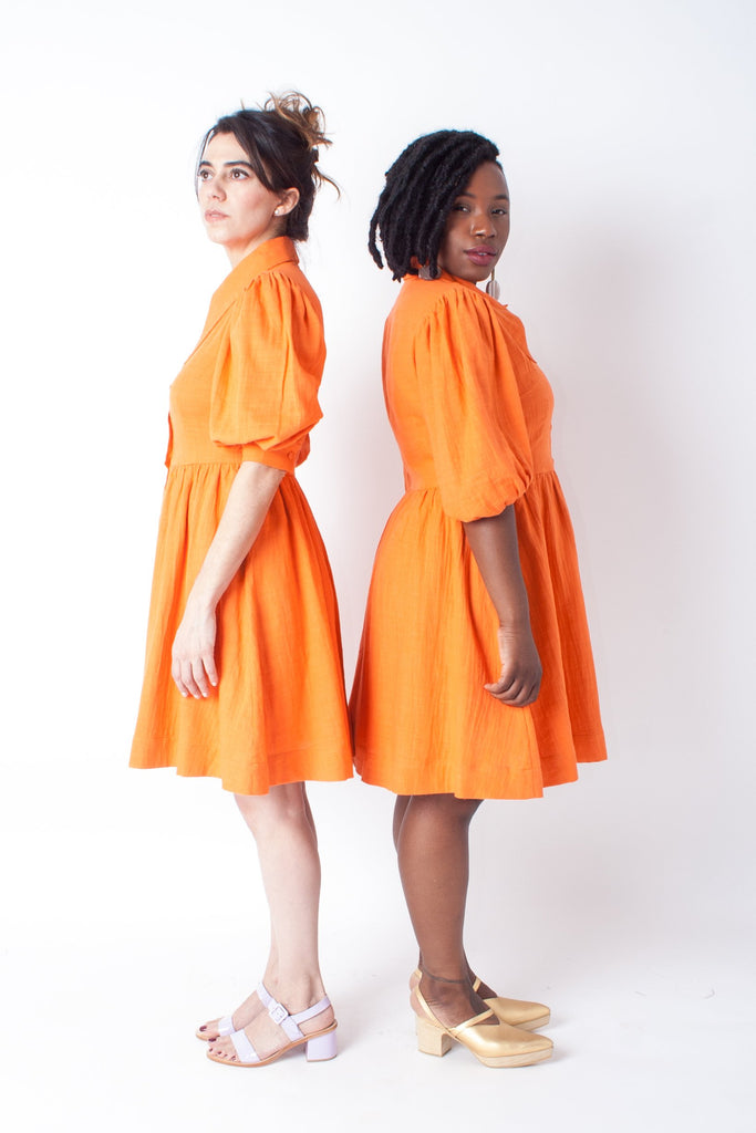 Hannah Kristina Metz - Ivy Dress (Petite Exclusive) - Orange Gauze