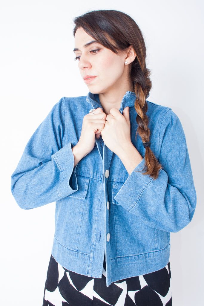 Ilana Kohn Mabel Crop Jacket - Light Denim