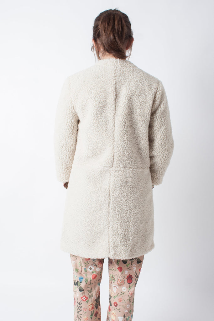 Loup Carly Jacket - Ivory Faux Shearling