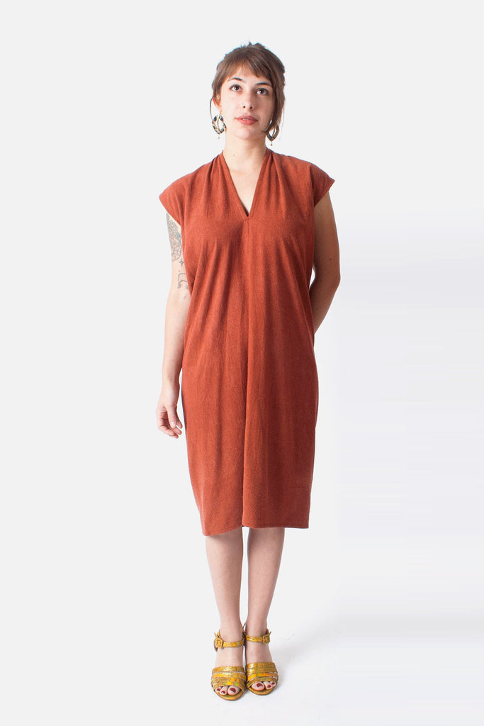 Miranda Bennett Everyday Dress (PETITE EXCLUSIVE) - Painted Rock Silk Noil