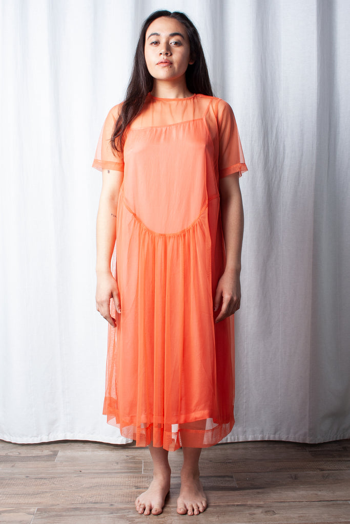 Wray Lilia Dress in Burnt Peach at STATURE | staturenyc.com