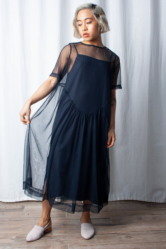 Wray Lilia Dress - Navy