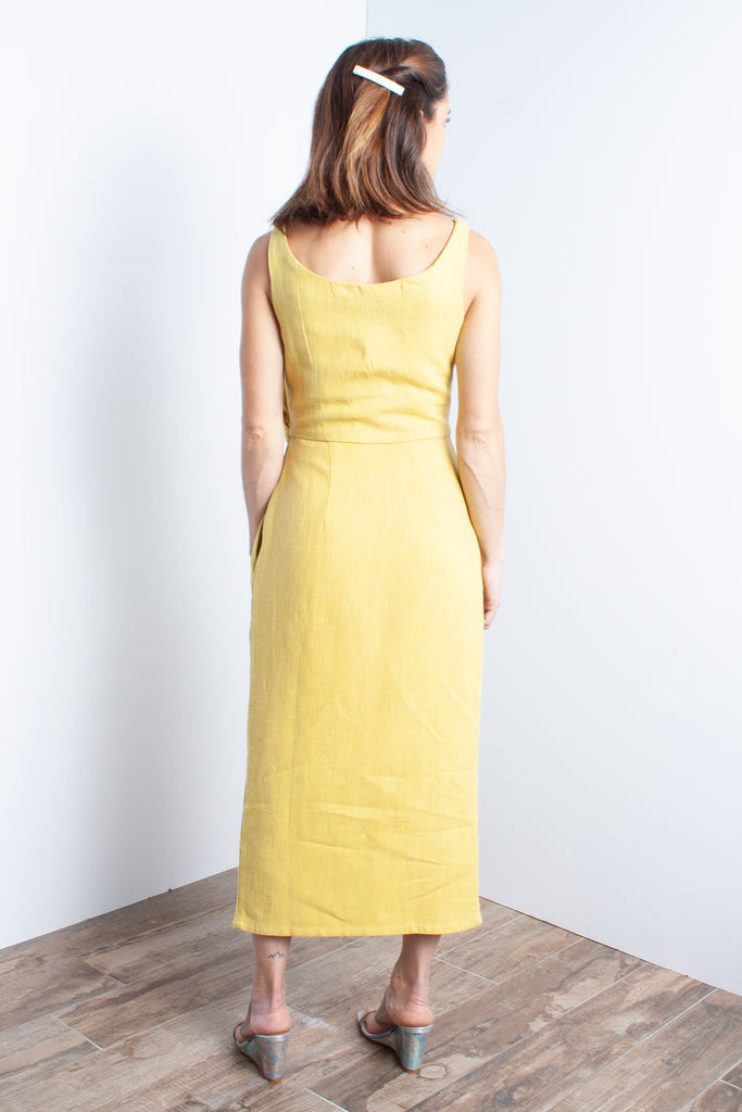 Samantha Pleet Tulip Dress in Sunflower at STATURE | staturenyc.com