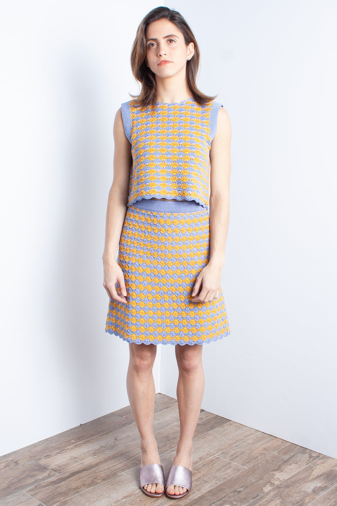 Rachel Comey Sedum Top - Periwinkle at STATURE | staturenyc.com