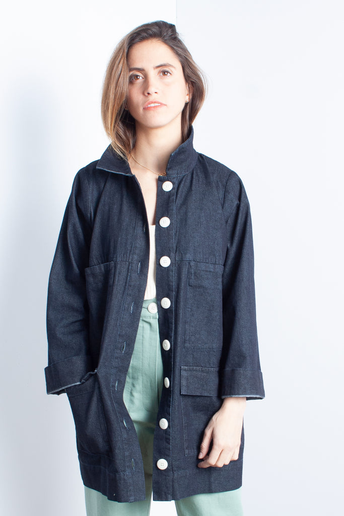 Ilana Kohn Mabel Jacket in Denim at STATURE | staturenyc.com