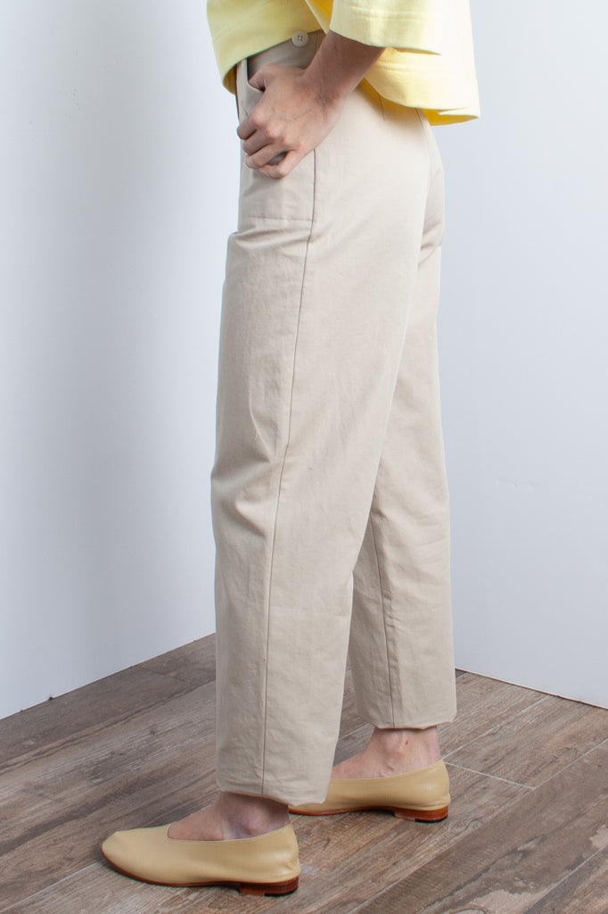 Ilana Kohn Huxie Pant in Oat - (Petite) - available at staturenyc.com