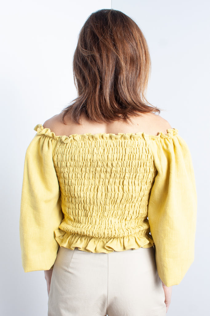 Samantha Pleet Daisy Blouse in Sunflower at STATURE | staturenyc.com
